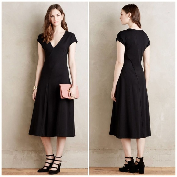 0781f34f8d3a Anthropologie Dresses & Skirts - MAEVE Anthropologie Black Ponte Knit Amelia  Dress